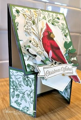 Stampin' Up! Toile Christmas | Double Dutch Door Fancy Fold | Rhapsody in Craft: Stampin' Up! - Heart of Christmas 2019 - Week 16