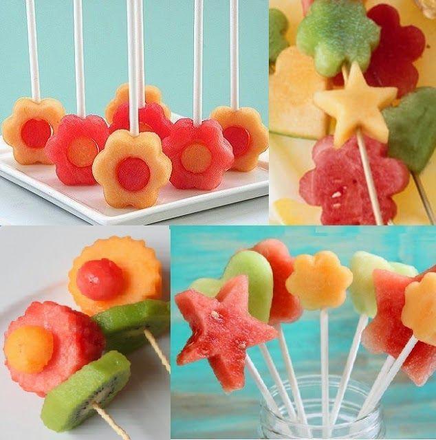 Ensalada de Frutas Receta Brochetas de fruta, Brochetas y El paso