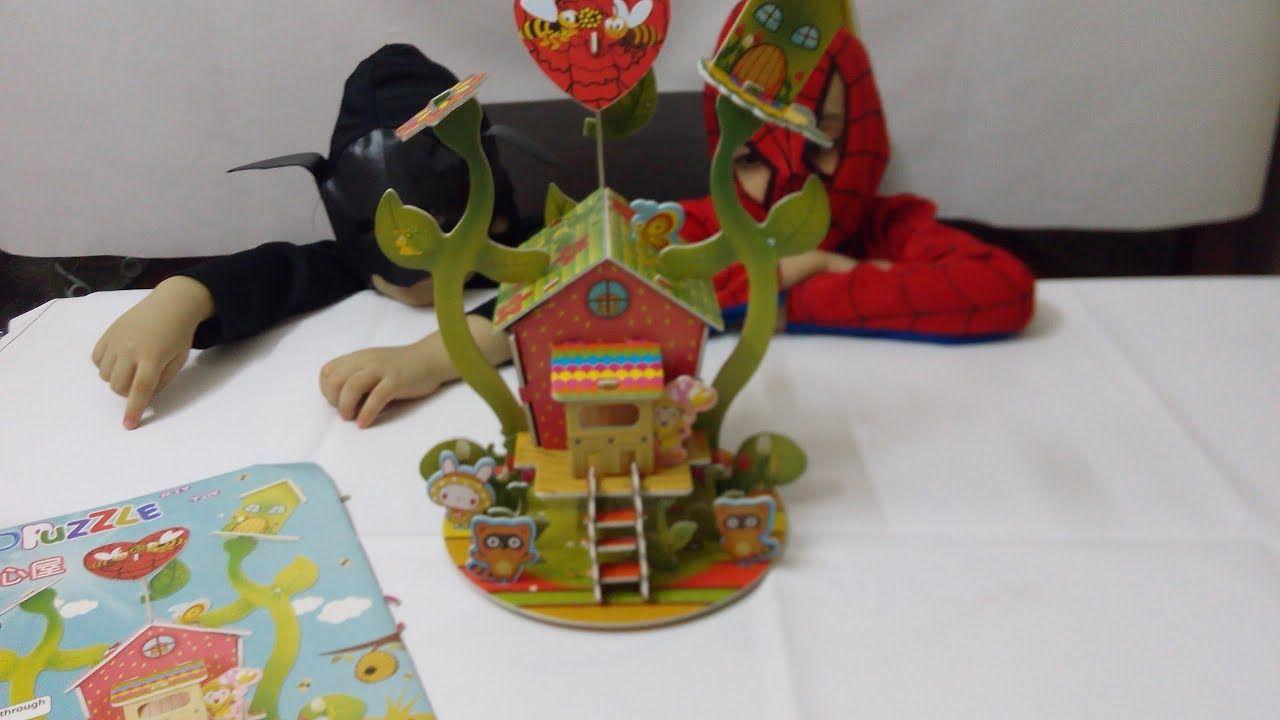 العاب البازل لعبة بازل بيت العصافير للاطفال House Of Birds Puzzle Sp Spiderman Batman Spider