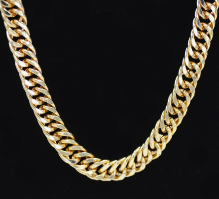 14K Gold Plated Iced Out Large Rapper Rope Hip Hop Chain or Rope 9inch Bracelet.