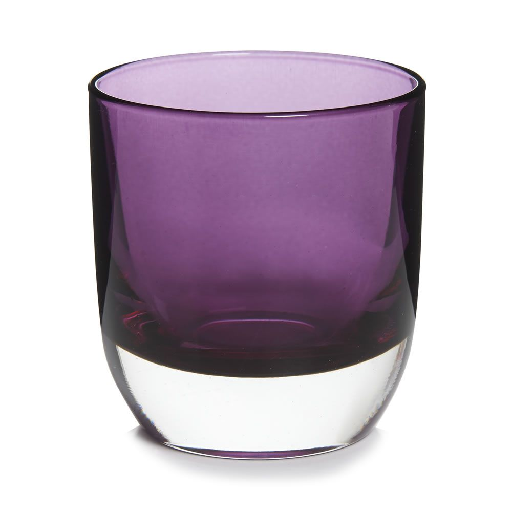 Wilko Purple Tealight Holder