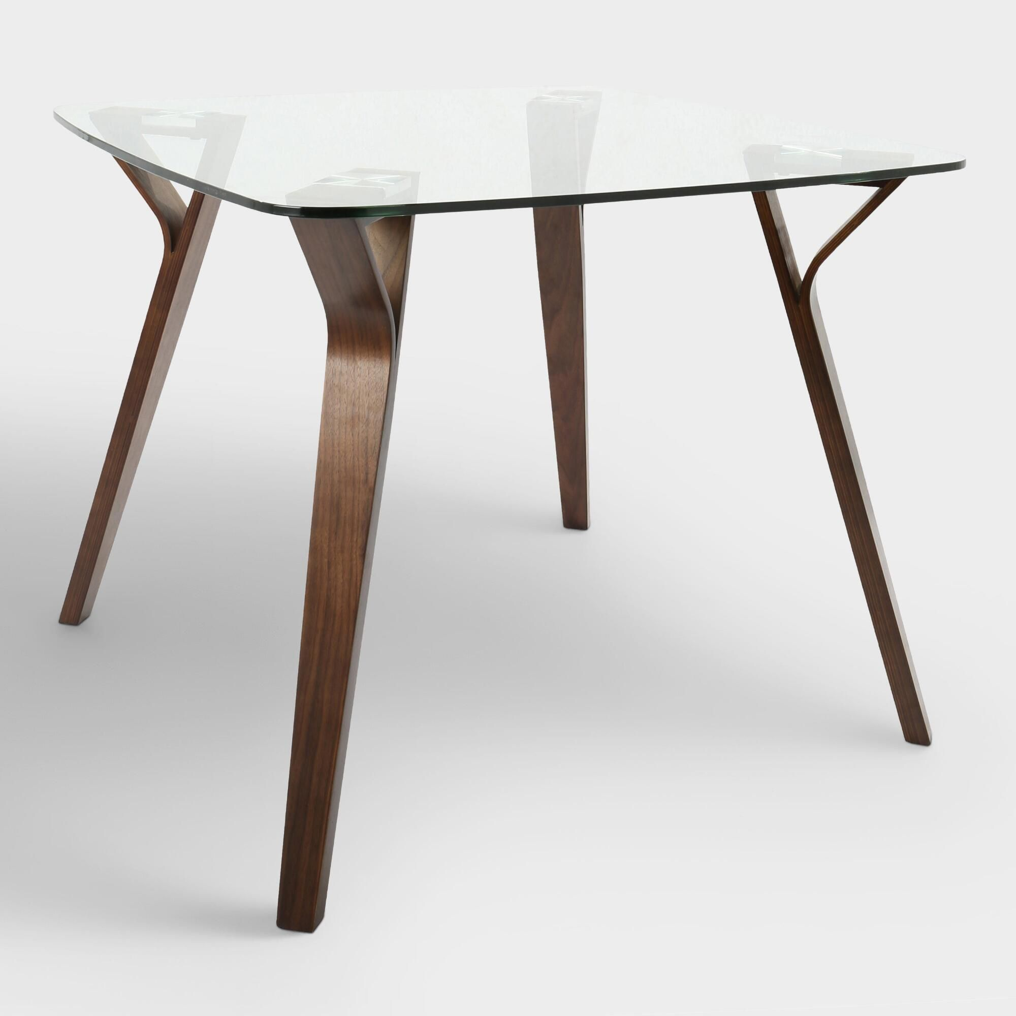 Glass And Wood Mid Century Joel Dining Table By World Market