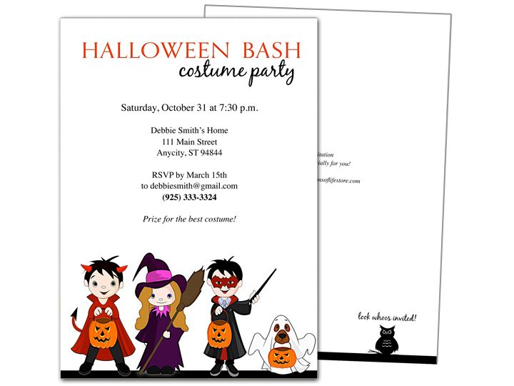 Masquarade Halloween Party Invitation Template  Halloween Party