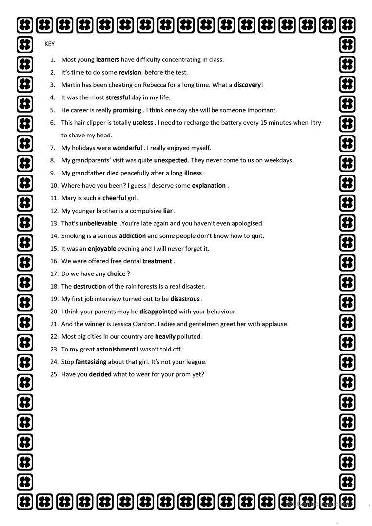 Word Formation Worksheet Free Esl Printable Worksheets Made By Teachers Word Formation Words English Grammar Worksheets