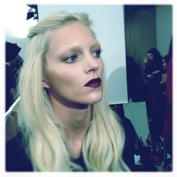 Gothic makeup behind the scenes of Gucci A/W12  boohoo.com    www.lab333.com  www.lablikes.tumbler.com  www.pinterest.com/labstyle  www.facebook.com/pages/LABSTYLE-by-LAB/189452871067225