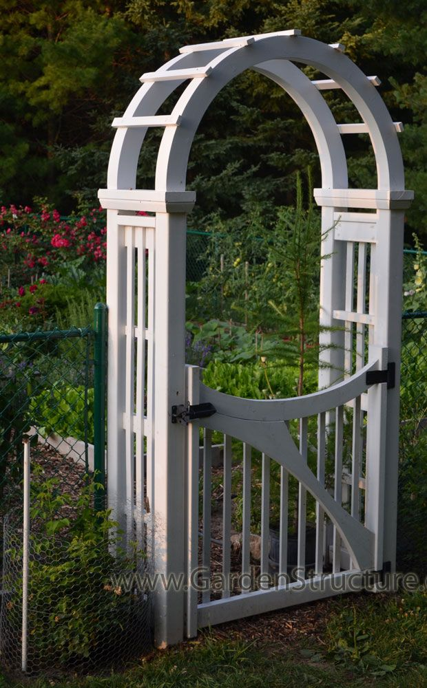 A Heavy Version Of The Classic Arched Arbor With Custom Gate. Arrange A  Design Consultation