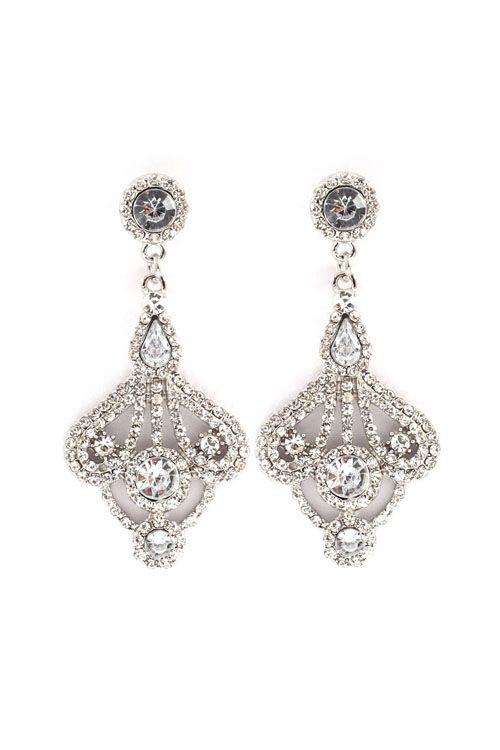Leigh Chandelier Earrings in Silver