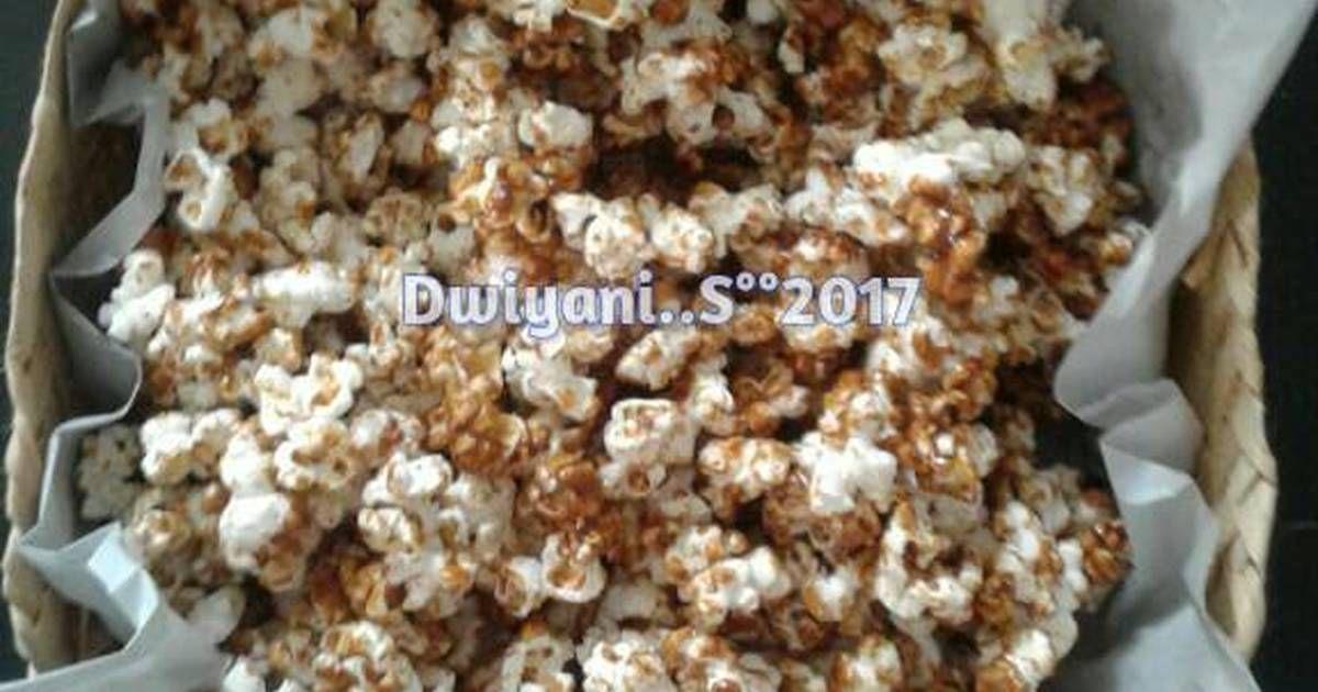 Resep Popcorn Karamel Oleh Dwiyani Ssl Resep Nampan Wajan Kentang