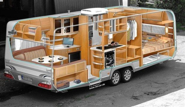 Mobile home - trailer or bus, for a comfortable vacation | Mobile Home, RV Trailers, Camping Trailers