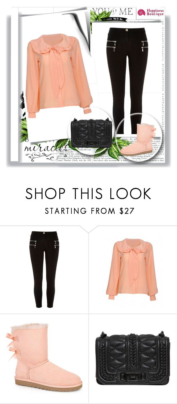 """""""Happy Vibes *24*"""" by happinessbtq ❤ liked on Polyvore featuring River Island, UGG Australia, Rebecca Minkoff, happycolours, casualluxe, happinessbtq and lovelyTOP"""