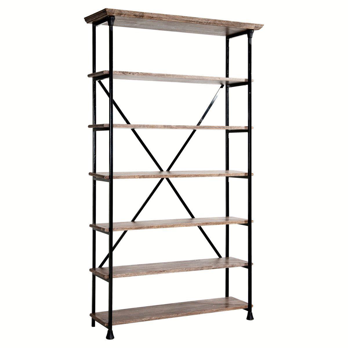biblioth que am pm etag re bois et m tal koncept am pm. Black Bedroom Furniture Sets. Home Design Ideas