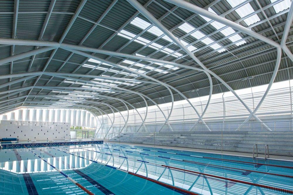 Exterior: AISJ Aquatic Center / Flansburgh Architects