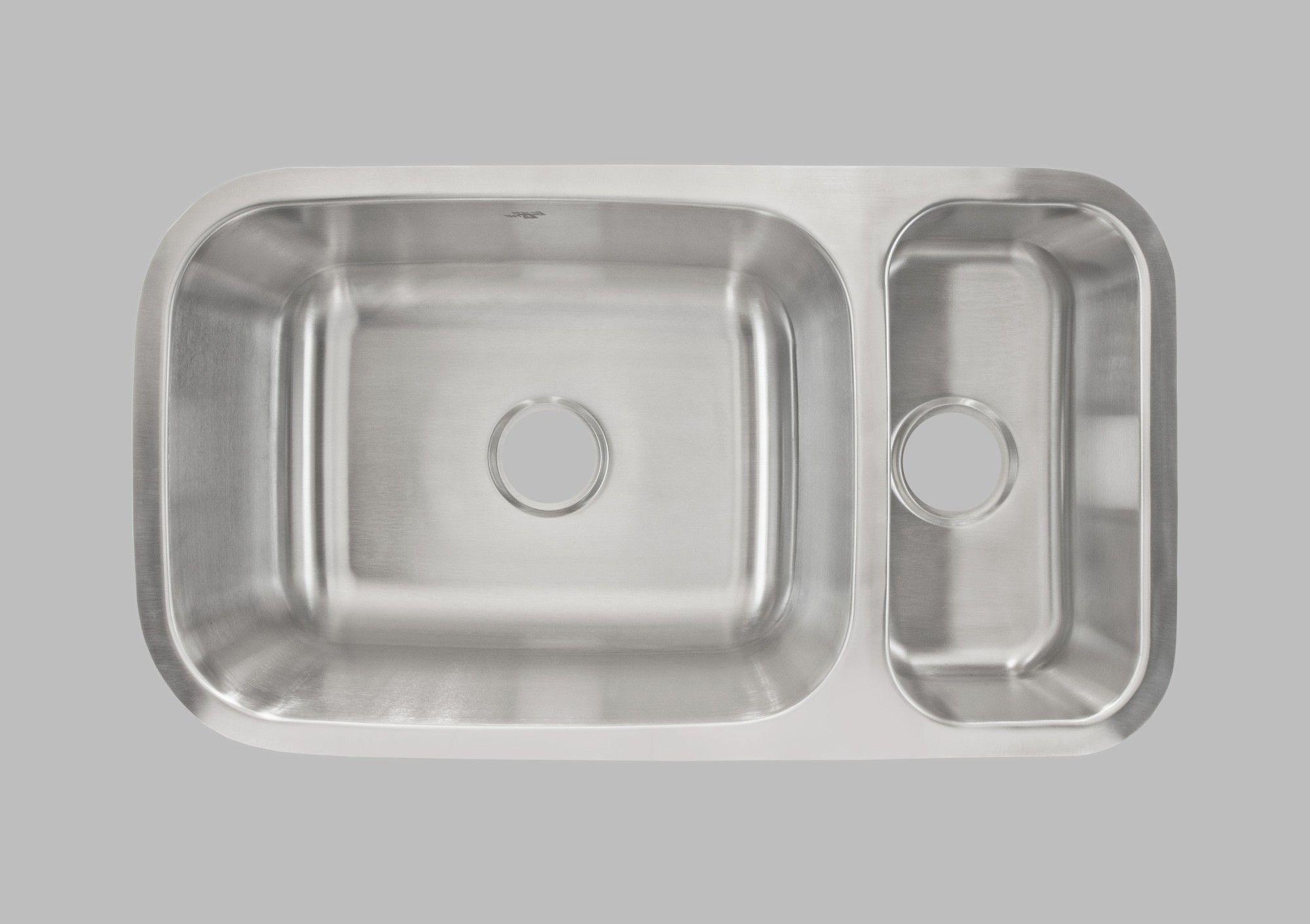 Undermount Double Bowl Sink Lcl204r 32 1 4 W X 17 7 8 L X 9 Deep
