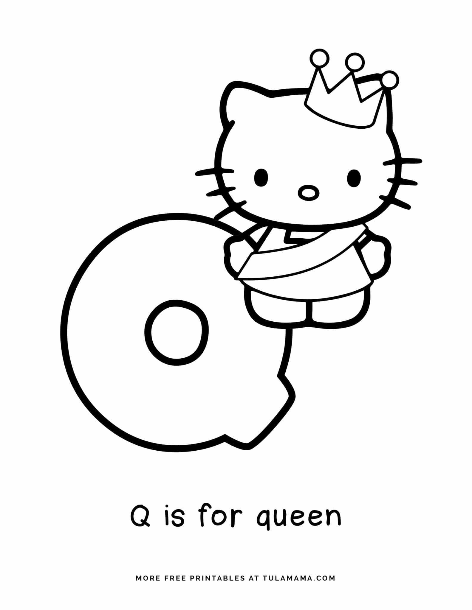 Free Hello Kitty Printables And Abc Coloring Pages In 2021 Abc Coloring Pages Hello Kitty Printables Abc Coloring