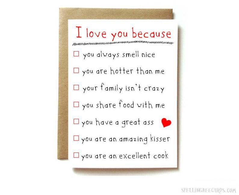 Funny Anniversary Card Love Card For Boyfriend Girlfriend