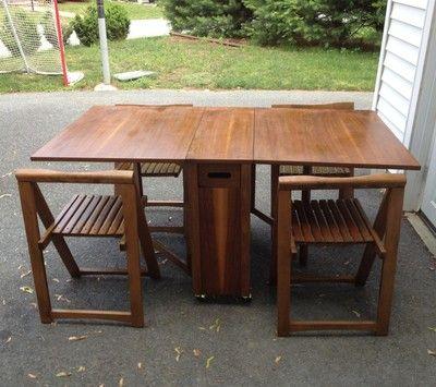 Wondrous Details About Vintage Mid Century Drop Leaf Table And Machost Co Dining Chair Design Ideas Machostcouk