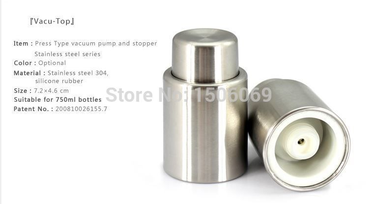newest push-type Vacuum Wine Stopper wine stoppers wine