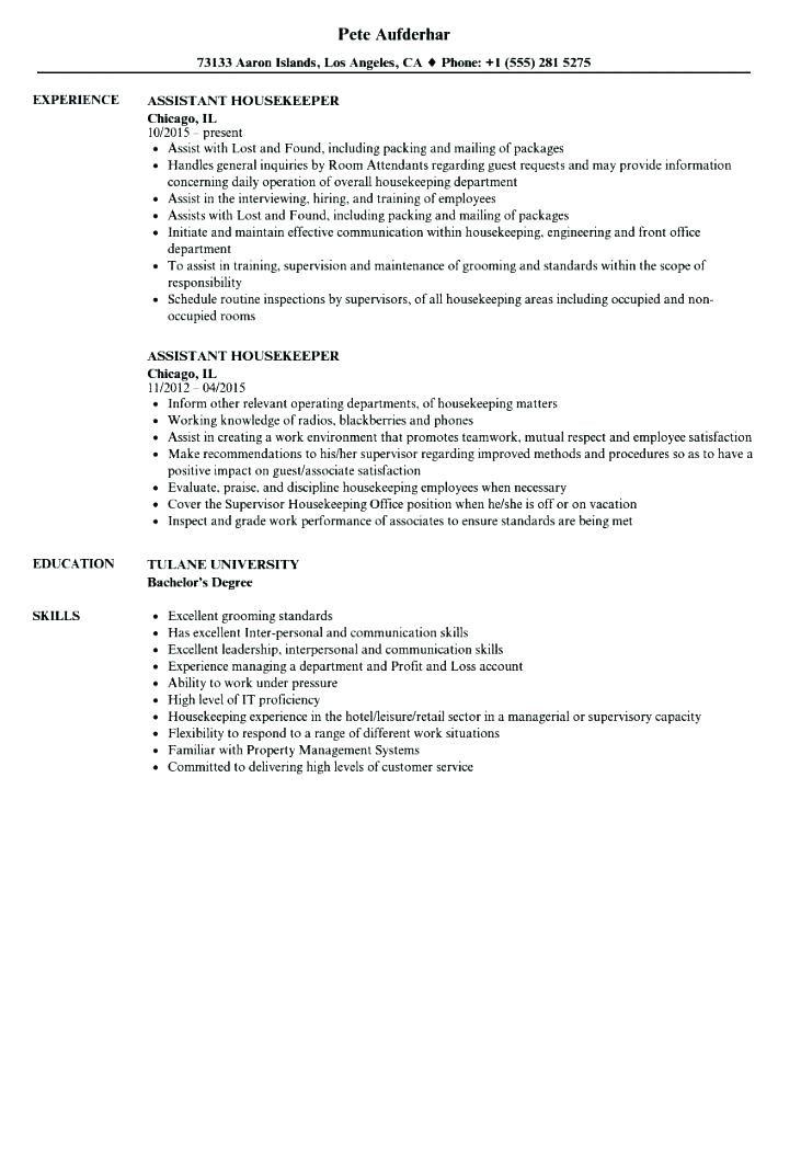 Resume Examples Housekeeping Entry Level Housekeeper Cover Letter Example Sample Resume Housekeeping Room Attendant Resume Examples Job Resume Format Resume