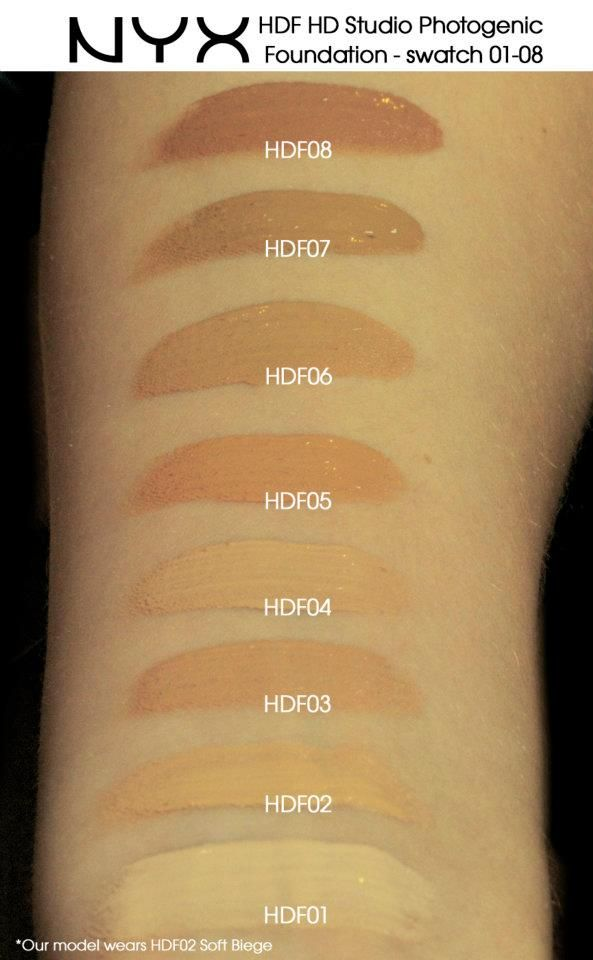 Nyx Hdf Hd Studio Photogenic Foundation Swatch 01 08