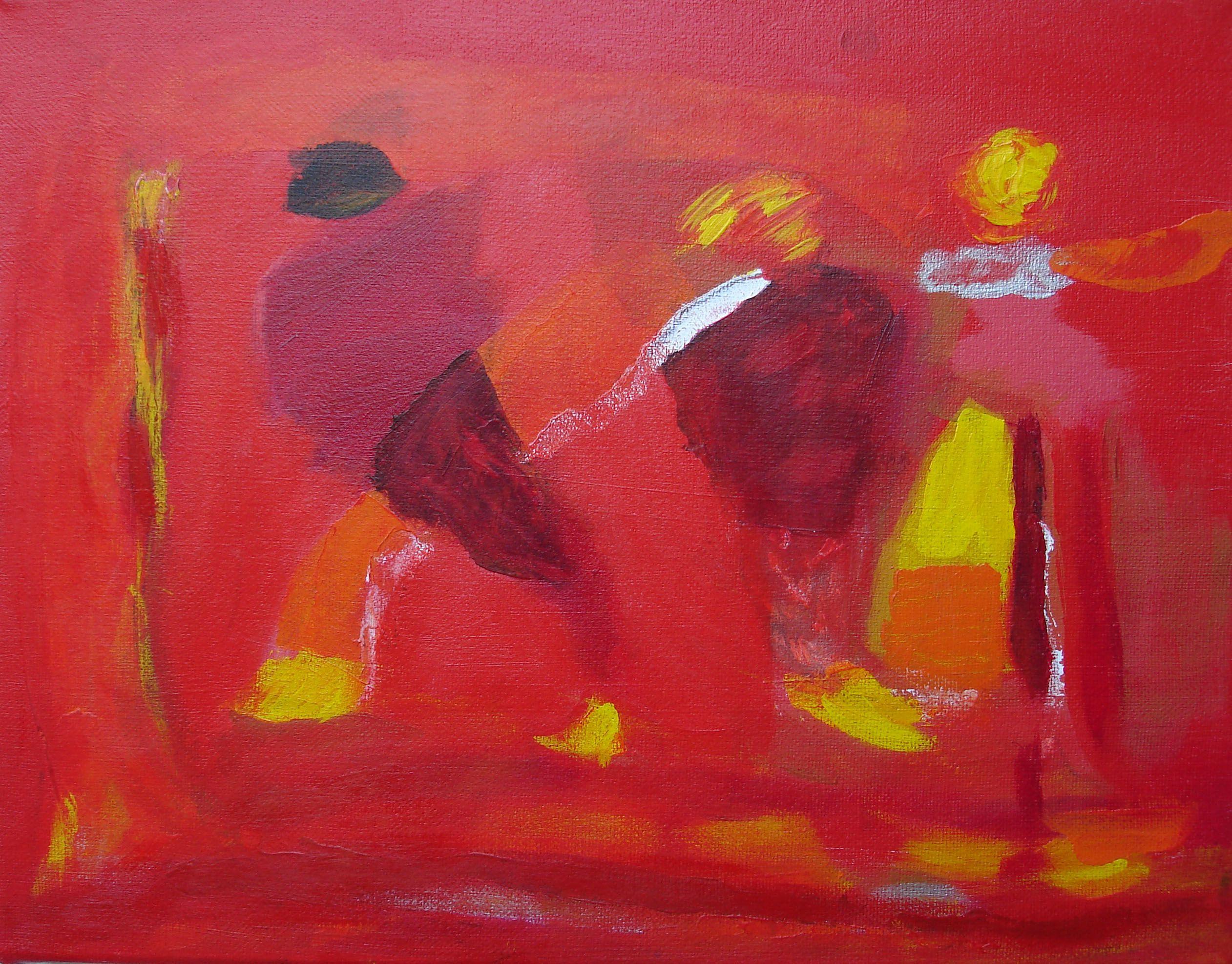 "Four figures by Marino Chanlatte | $250 | 14""w 11""h | Original Art | https://www.arttwo50.com/buy/art/four-figures"