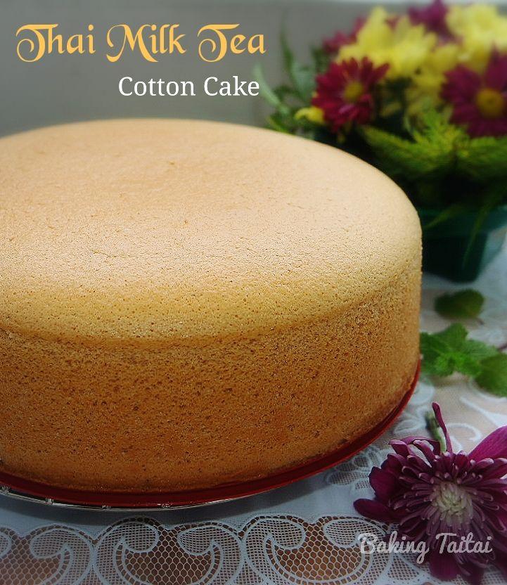 Baking Taitai Thai Milk Tea Cotton Cake