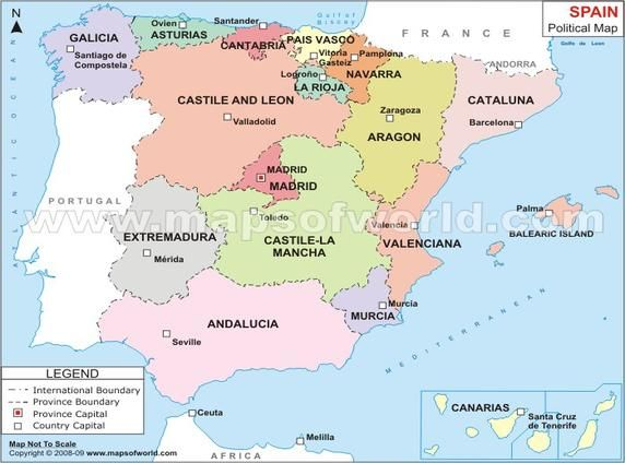 Rowvajhhistwikispacescom File View Spainpoliticalmapjpg - Spain political map