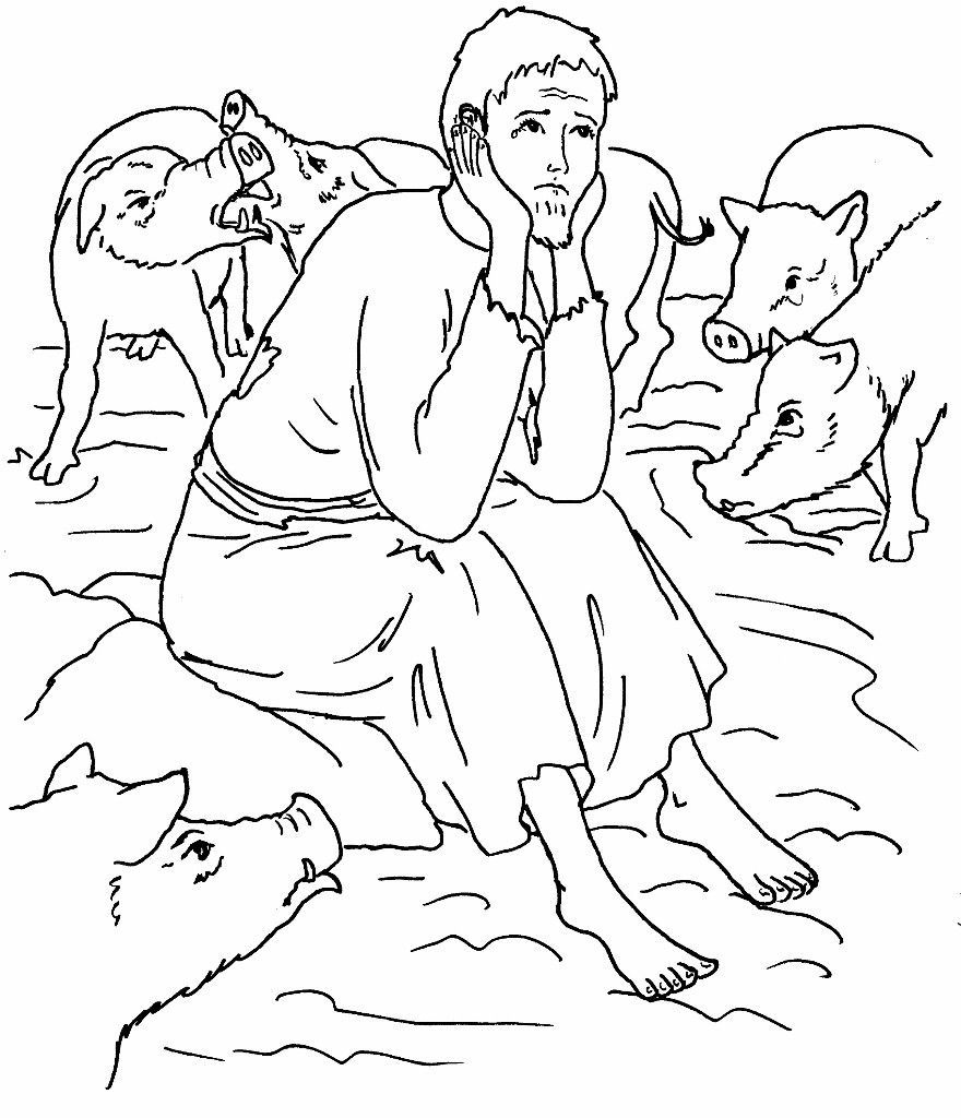 Prodigal Son Coloring Pages Sunday School Coloring Pages Bible Coloring Pages Prodigal Son