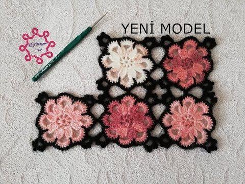 Bahar Çiçekleri Motifli Yelek (Motif Yapımı) - YouTube #crochetedflowers
