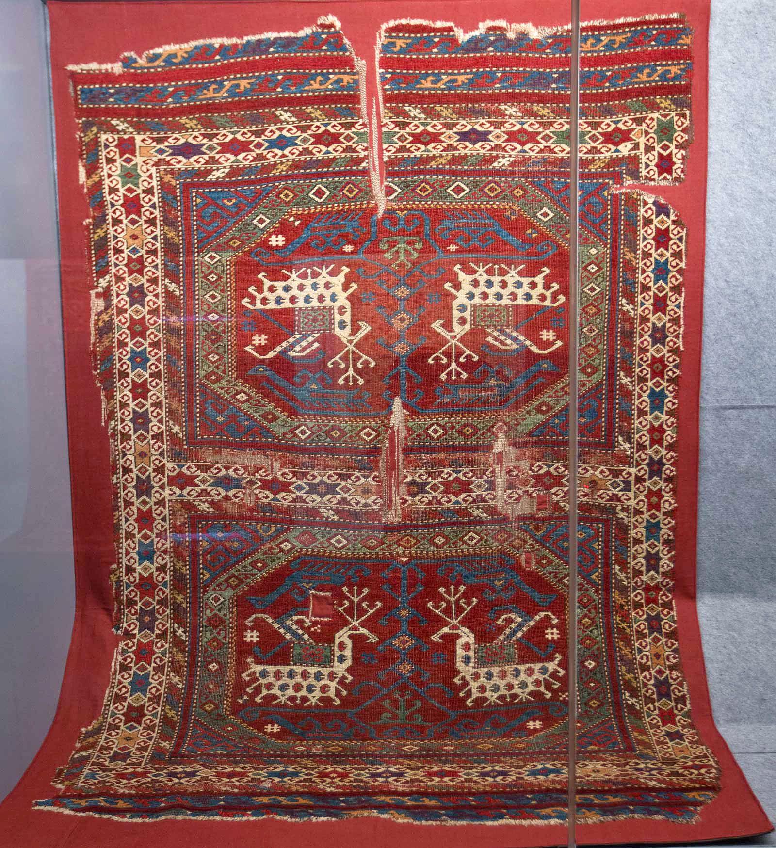 Early Anatolian Turkish Rug With Animal Motif, 15th