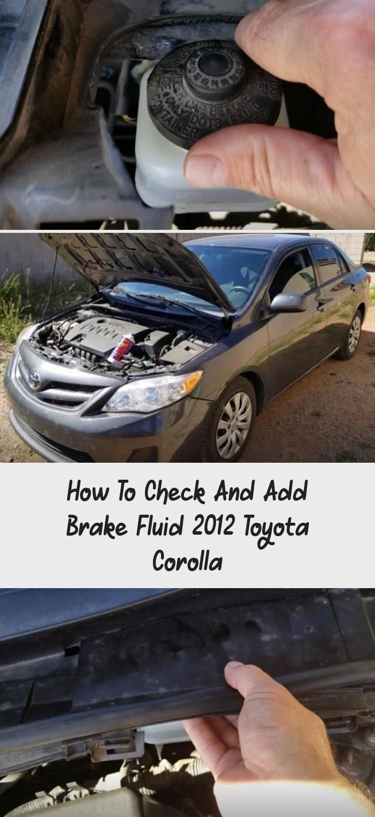 How to check and add brake fluid 2012 toyota corolla
