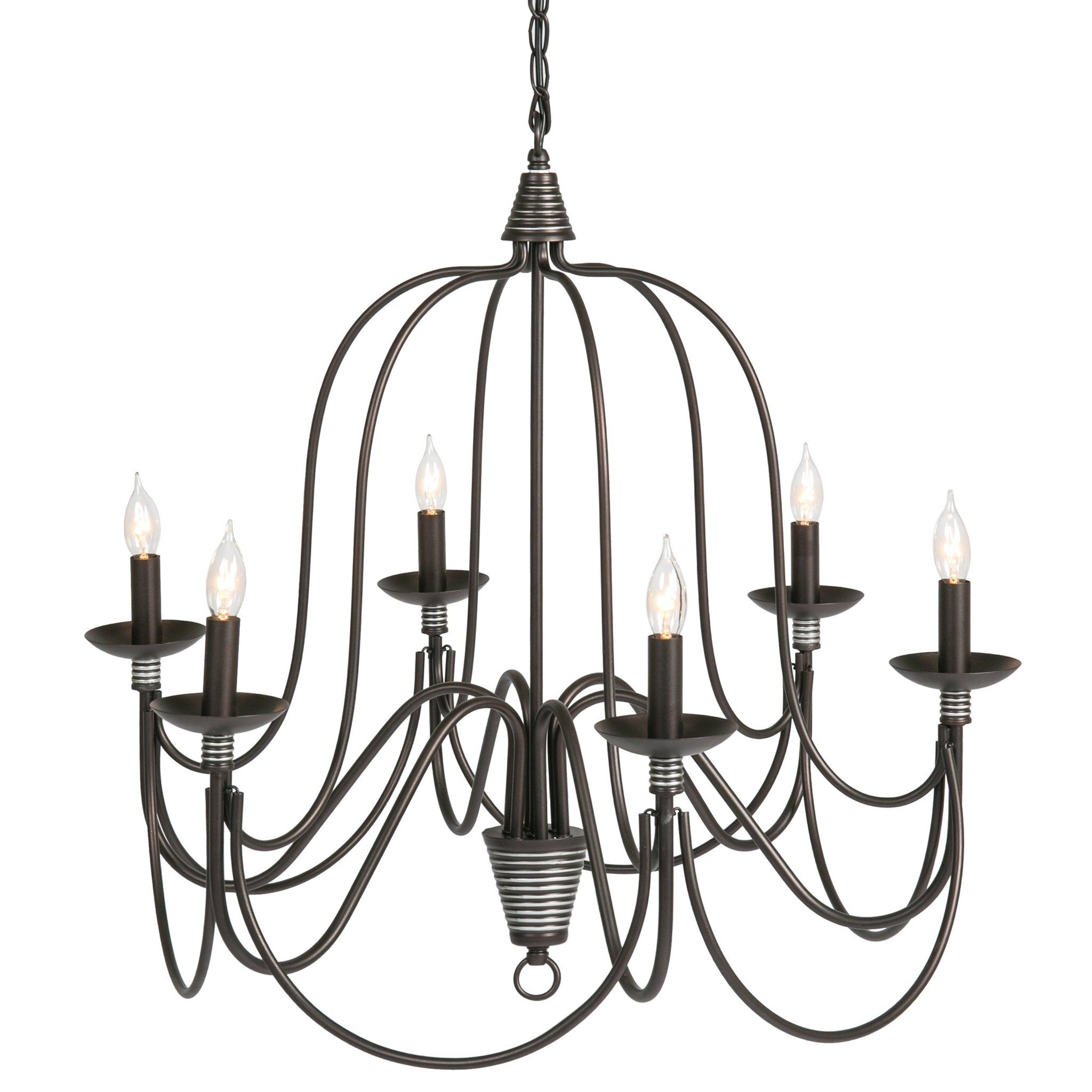Home 6 Light Ceiling Candle Chandelier Hanging Fixture W Bronze