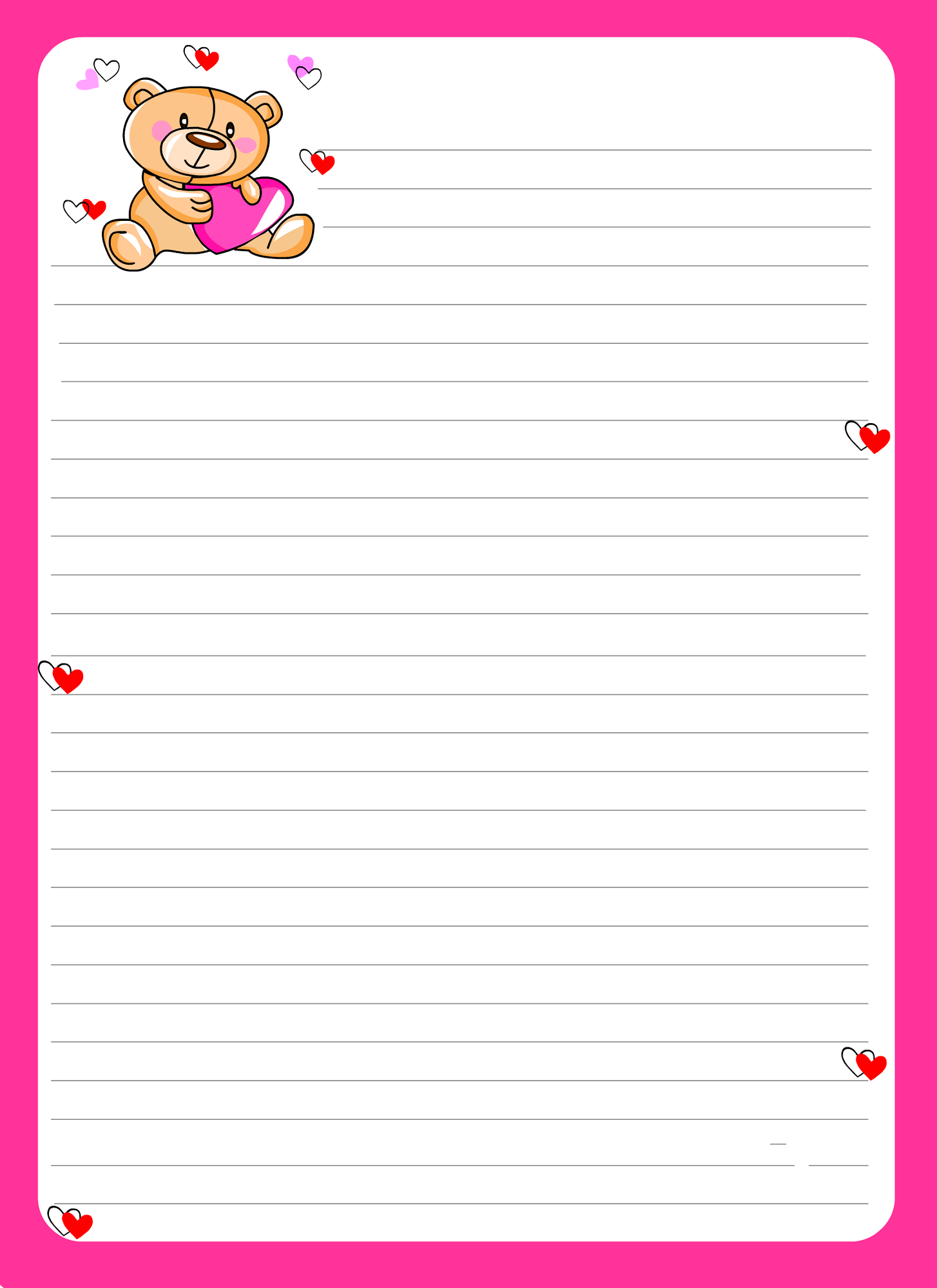 Lined paper for kids activity shelter notebook paper for Learning to write paper template