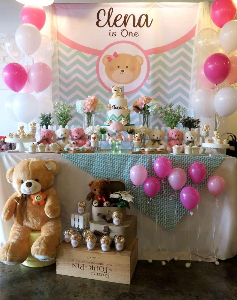 Birthday Birthday Party Ideas Photo 1 Of 26 Teddy Bear Birthday Party Teddy Bear Birthday Teddy Bear Party
