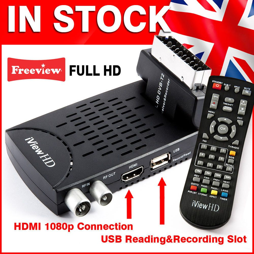 FULL HD SCART Freeview Receiver & HD RECORDER DIGITAL TV