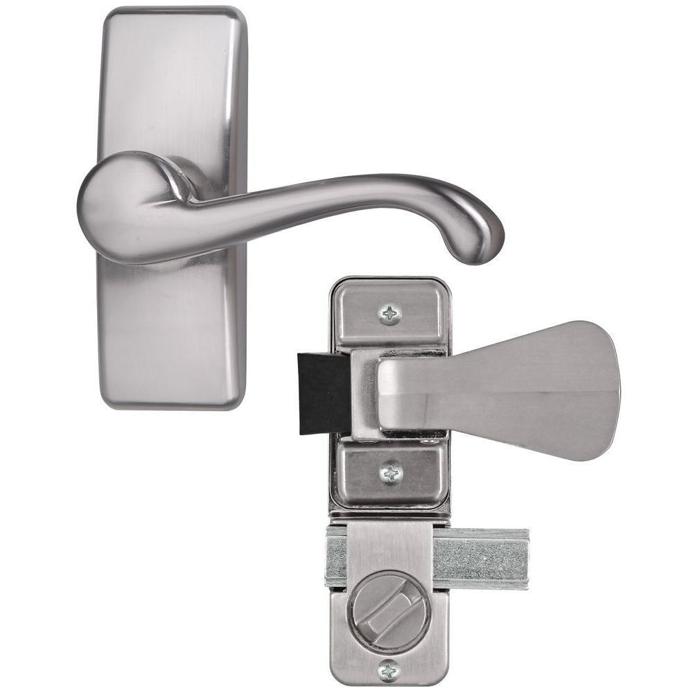 Ideal Security Satin Nickel Coated Zinc Storm And Screen Door Lever Handle Set With Deadbolt Door Levers Screen Door Latch Screen Door Hardware