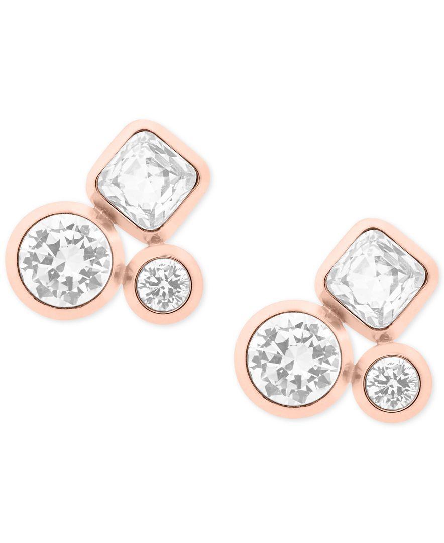 Michael Kors Crystal Cer Stud Earrings