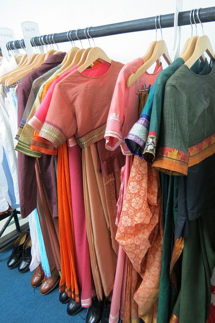 Colorful costumes, as seen on the set of Indian Summers | Courtesy of Rebecca Eaton for MASTERPIECE