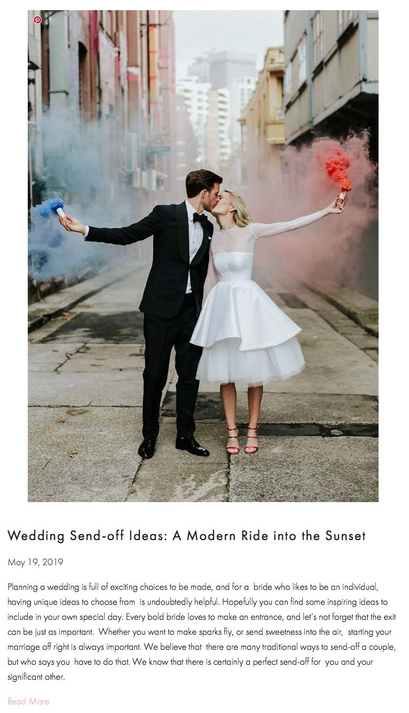 Wedding Sendoff Ideas A Modern Ride into the Sunset
