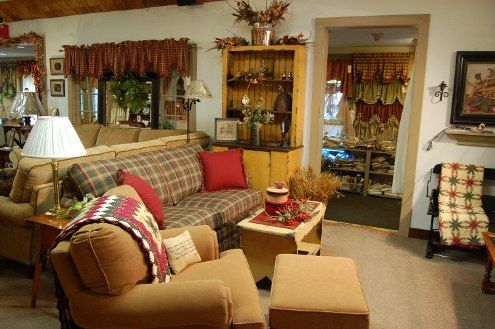 Country Style Decorating Ideas For A Living Room Plaid that works for fall coziness
