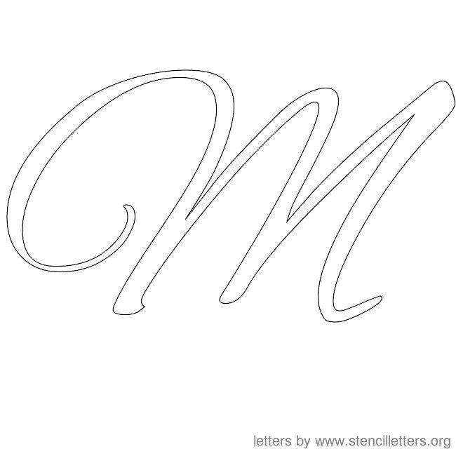 M In Fancy Cursive Fancy Cursive Capital ...