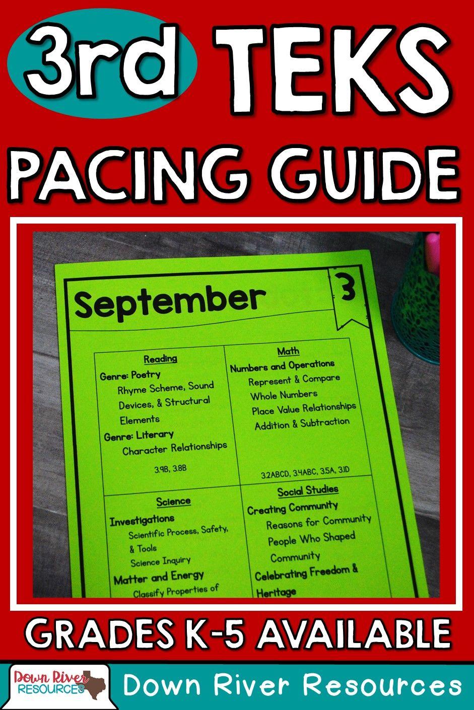 Third Grade Pacing Guide | Pacing Guide Third Grade | Pacing Guide for  Third Grade | Third Grade TEKS Pacing Guide | Third Grade TEKS | Third Grade  Back to ...