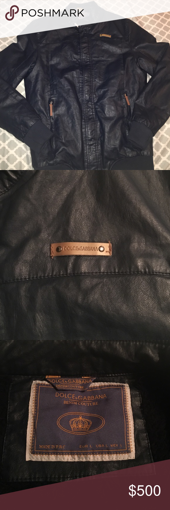 Beautiful D&G leather jacket! This jacket is in great