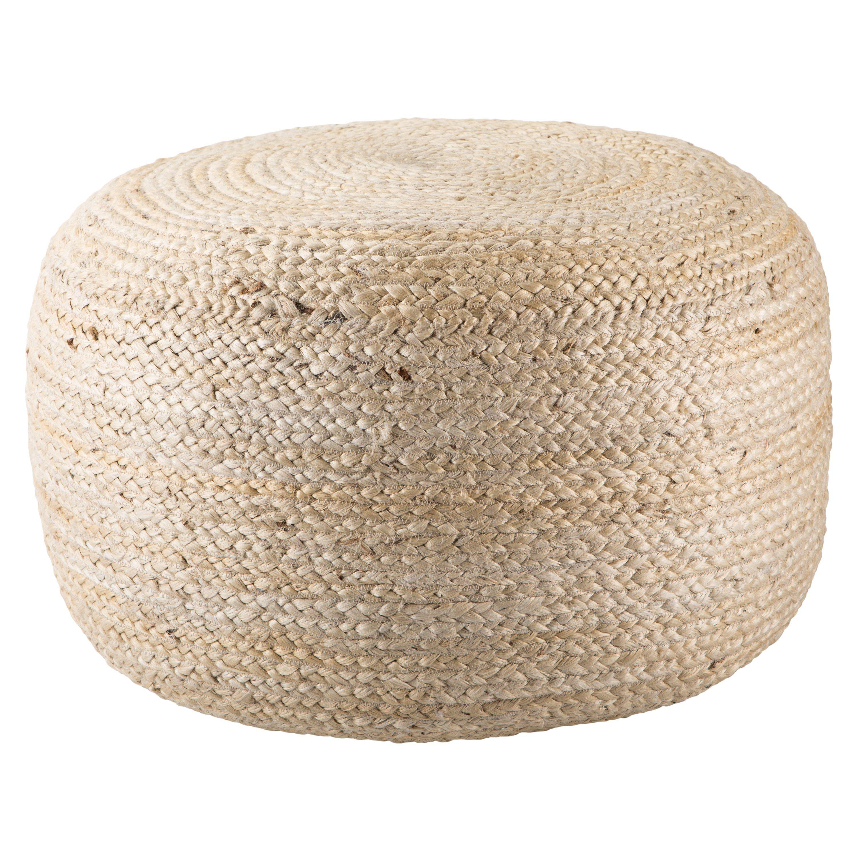 Mesa Beige Solid Round Pouf Pouf Pouf Ottoman Jaipur Living [ 3000 x 3000 Pixel ]