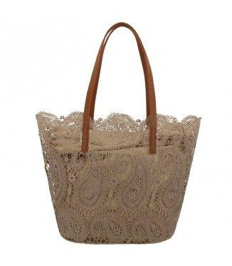e3b3233f9a BORSA MANICI MADELINE BEIGE SCURO Particolari   bags   Bags, Straw ...