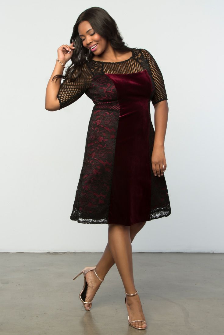 Plus size wedding guest dresses with sleeves  Mixed Lace Cocktail Dress  Plus Size Style Lace  Pinterest
