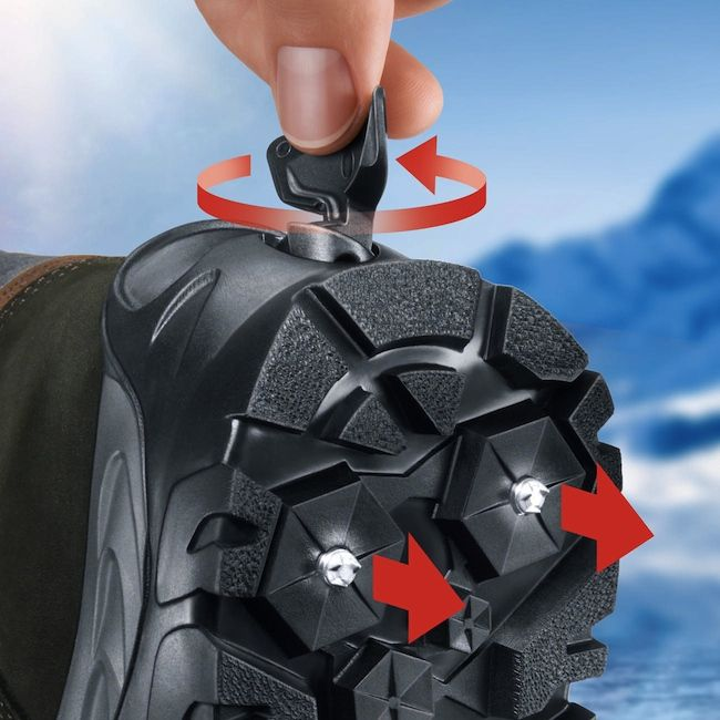 Snow And Ice Boots With Retractable Spikes Craziest Gadgets Survival Boots Weird Gadgets