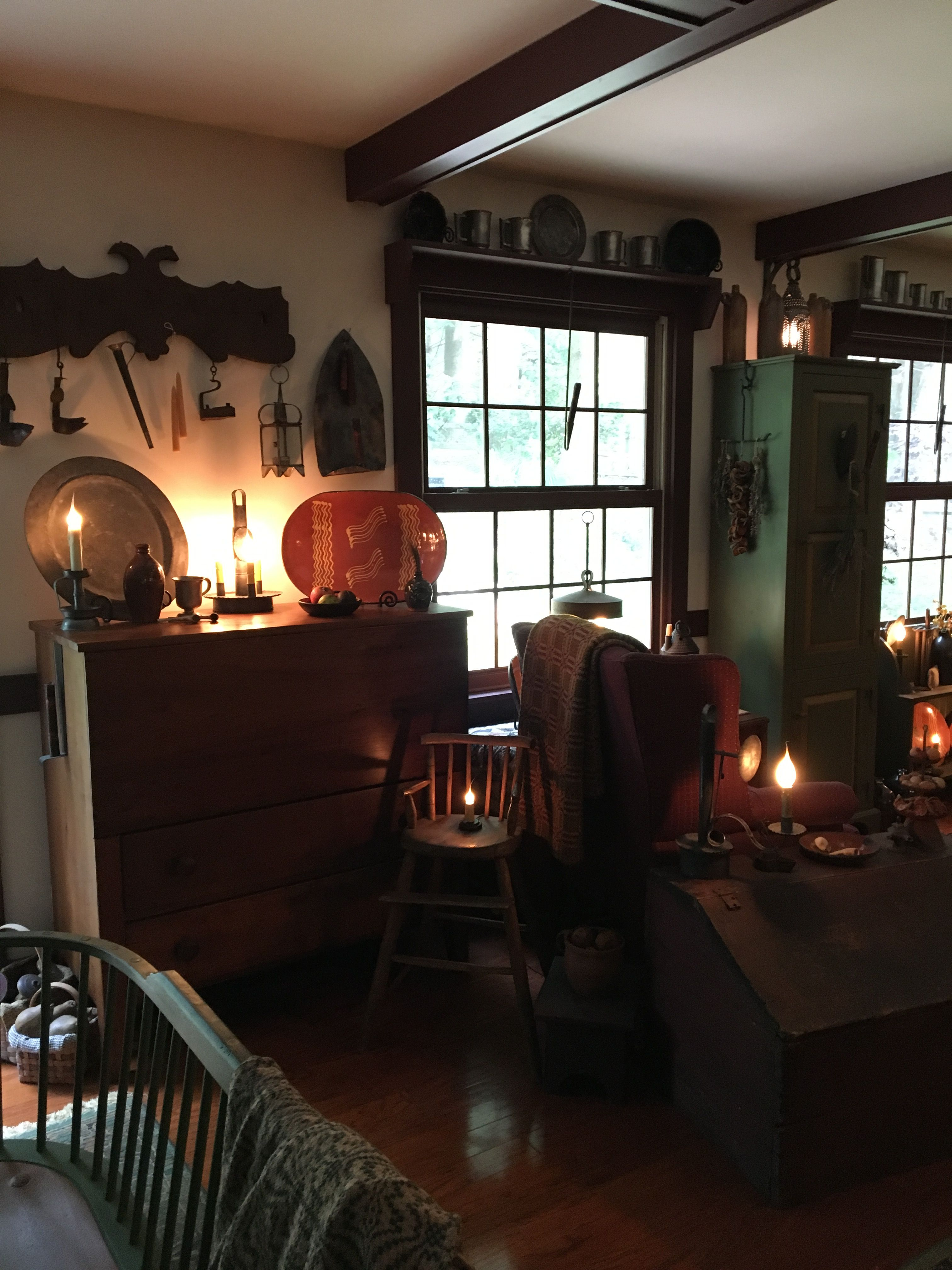 Primitive living room primitive homes herbs indoors herb garden primitives country