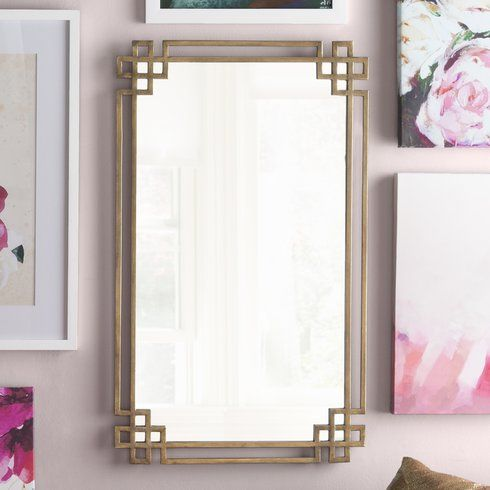 Rectangle Gold Mirror