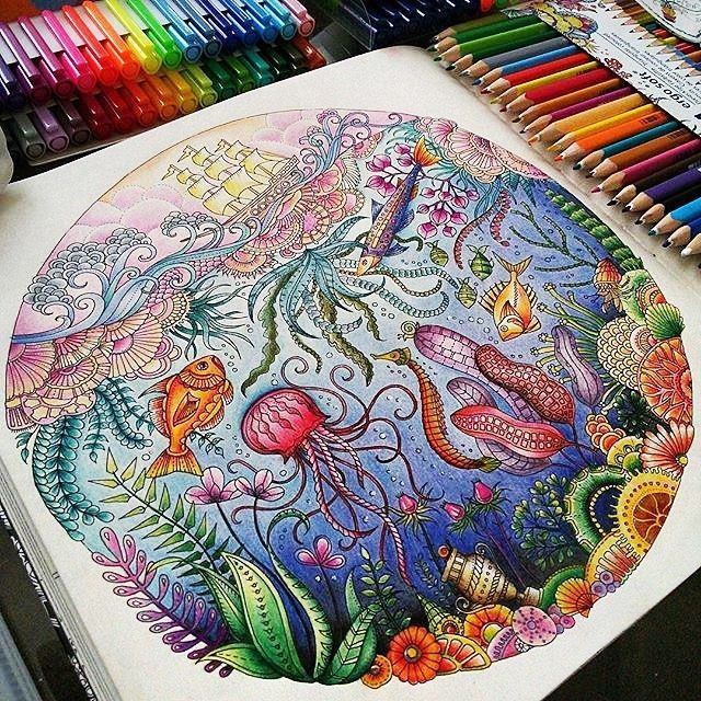 Colouring Book Coloring On Instagram Lost Ocean Coloring Book, Johanna  Basford Coloring Book, Coloring Book Art