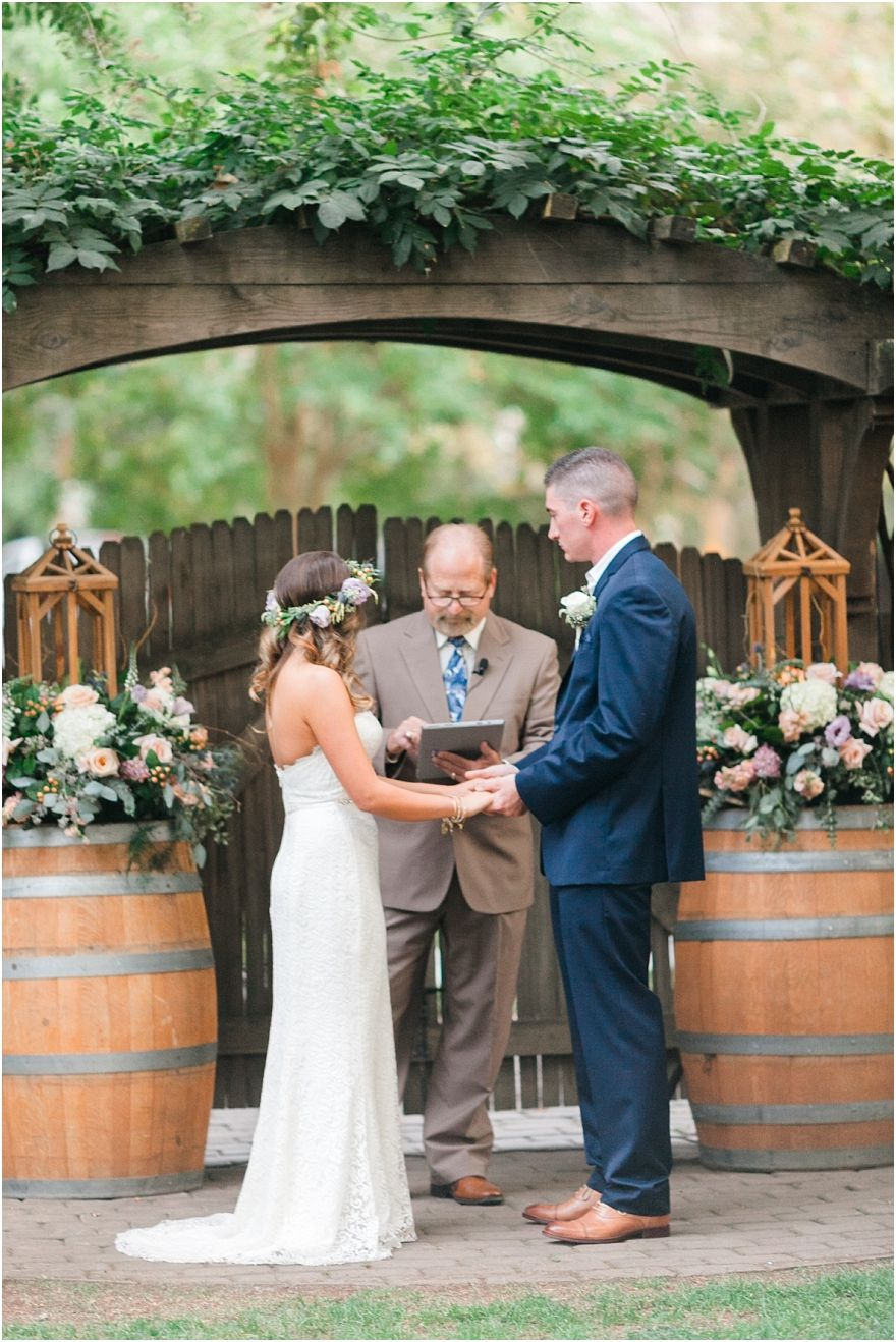 Wine Roses Lodi Ca Wedding In Front Of The Garden Gate